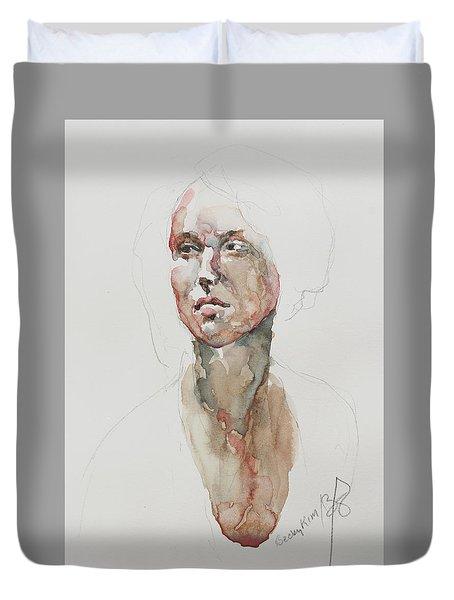 Wc Mini Portrait 5             Duvet Cover by Becky Kim