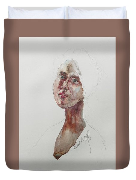 Wc Mini Portrait 7             Duvet Cover by Becky Kim