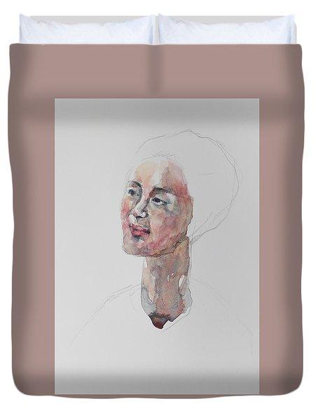 Wc Mini Portrait 9             Duvet Cover by Becky Kim