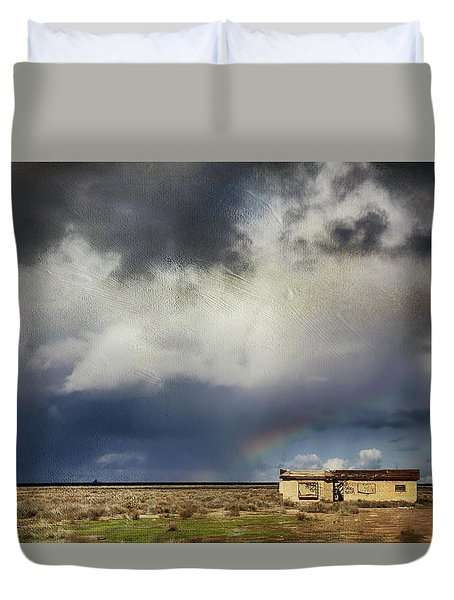 Duvet Cover featuring the photograph We All Need A Little Hope by Laurie Search