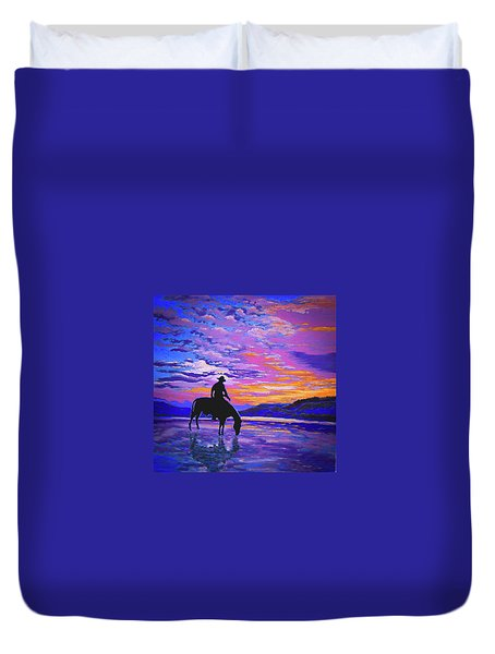 We And Still Waters Duvet Cover