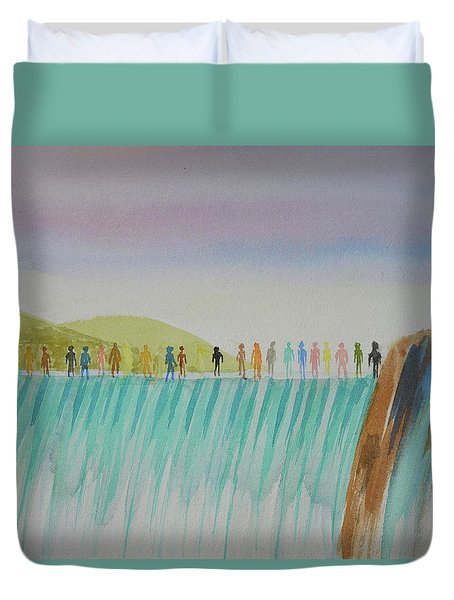 We Are All The Same 1.1 Duvet Cover by Tim Mullaney
