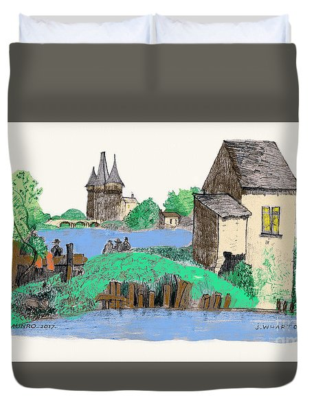 We Are Gone Fishing, Eh? Duvet Cover