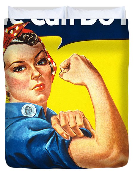 We Can Do It Rosie The Riveter Poster Duvet Cover