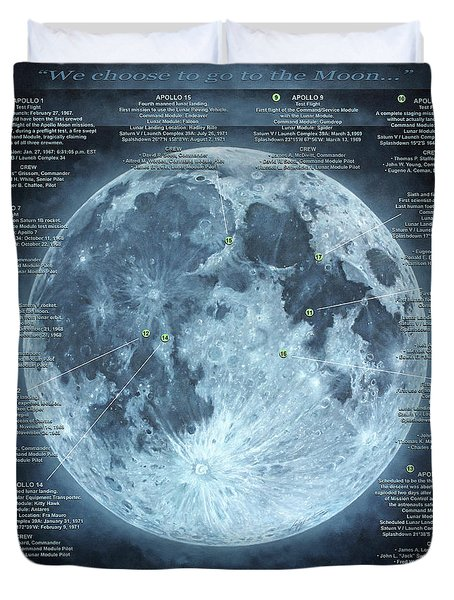 We Choose To Go To The Moon Duvet Cover