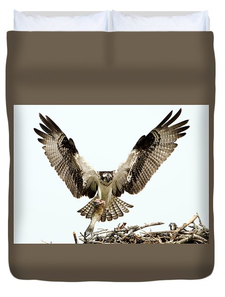 Osprey Returns Duvet Cover