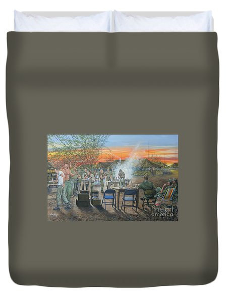 We Did It First Forrest Duvet Cover