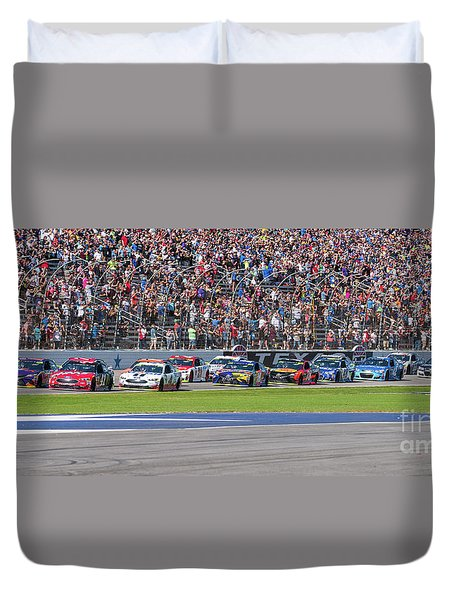 We Have A Race Duvet Cover