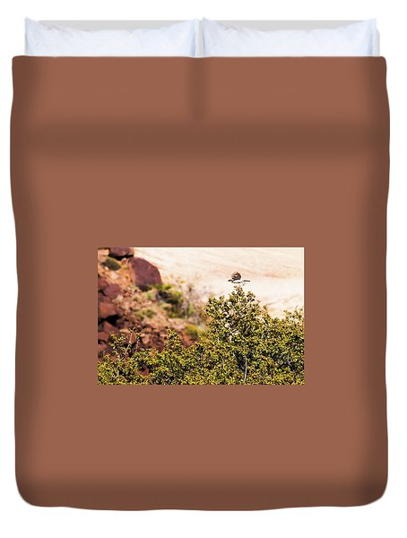 Duvet Cover featuring the photograph We Have Takeoff by Onyonet  Photo Studios