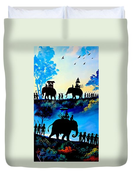 We March At Sunrise  Duvet Cover