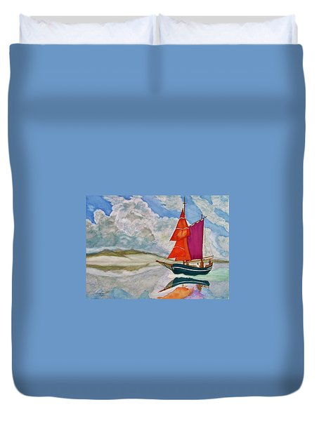 We Sailed Upon A Sea Of Glass Duvet Cover by Rand Swift