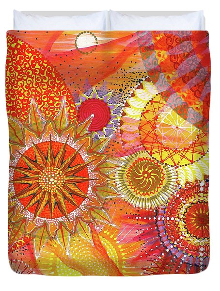 Duvet Cover featuring the painting We Will Have Many Suns #2 by Kym Nicolas
