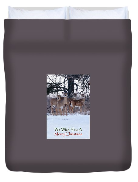 Duvet Cover featuring the photograph We Wish You A Merry Christmas by Gary Hall