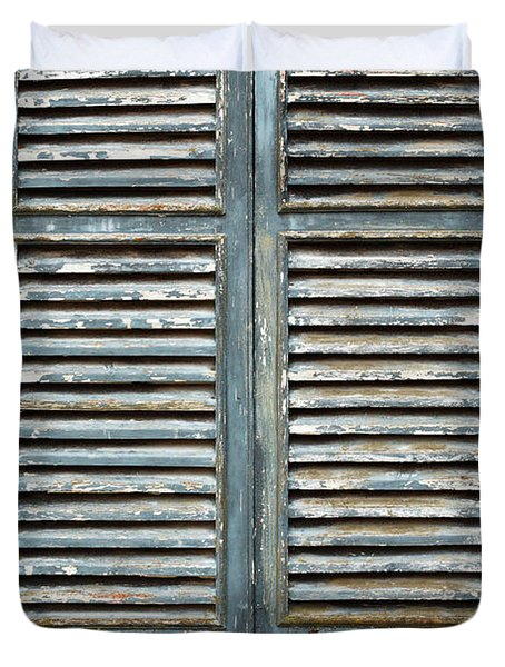 Weather-beaten Window Duvet Cover by Gaspar Avila