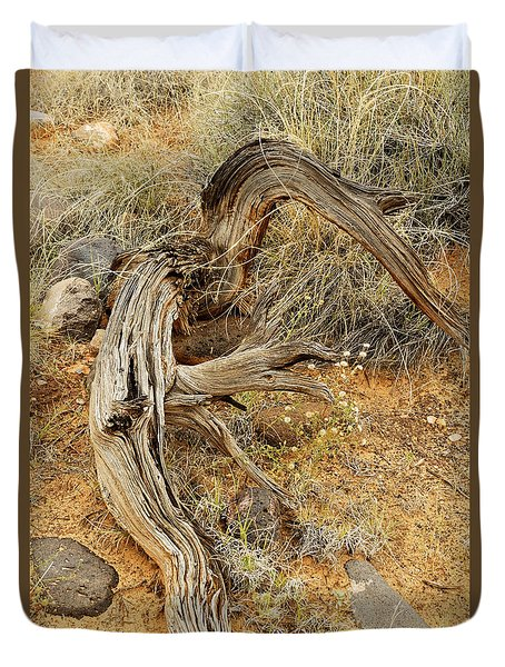 Weather Tree And Wildflowers Duvet Cover