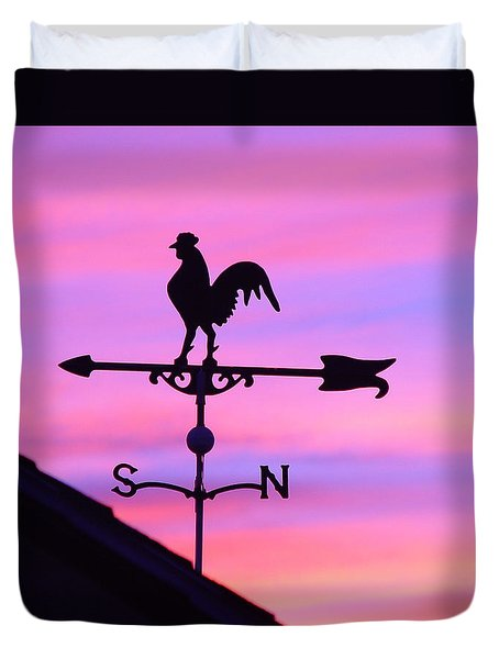 Weather Vane, Wendel's Cock Duvet Cover