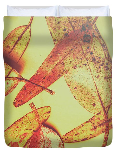 Weathered Autumn Leaves Duvet Cover