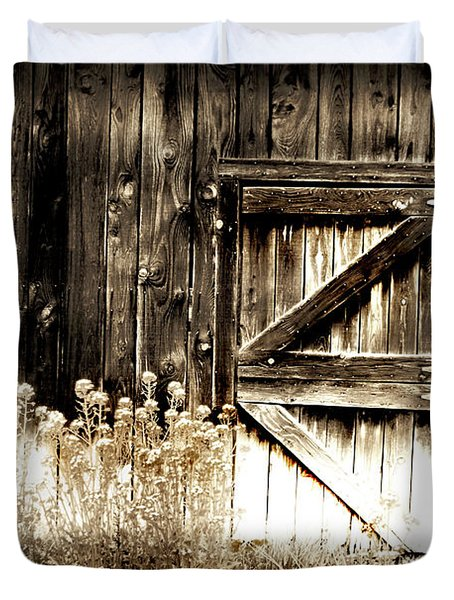 Weathered Barn Door Duvet Cover by Gray  Artus