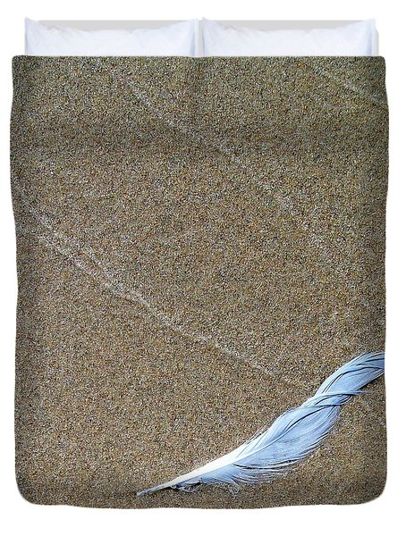 Weathered Feather  Duvet Cover by Michelle Calkins