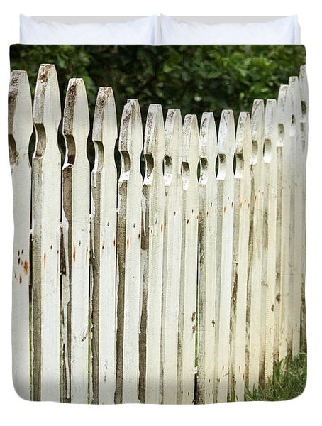 Weathered Fence Duvet Cover