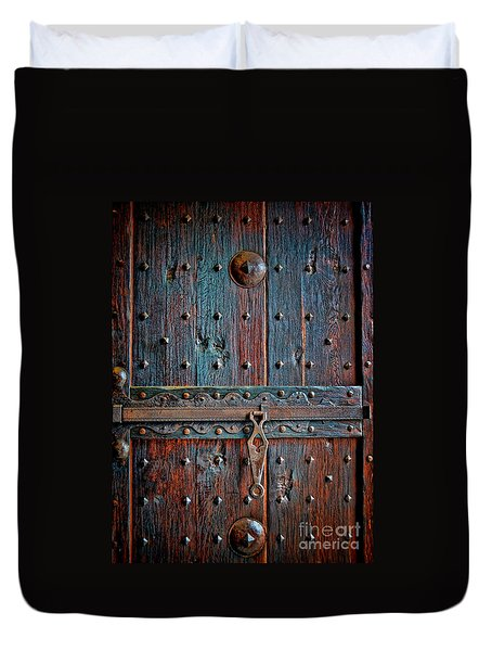 Duvet Cover featuring the photograph Weathered by Gina Savage