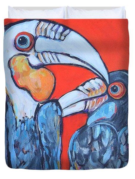 Weathered Hornbills Duvet Cover