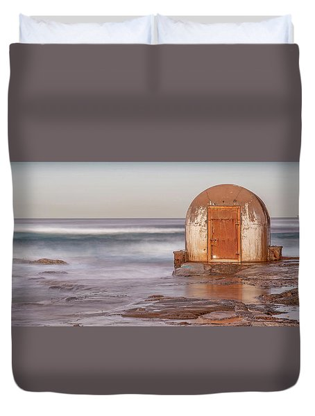 Duvet Cover featuring the photograph Weathered In Time by Az Jackson