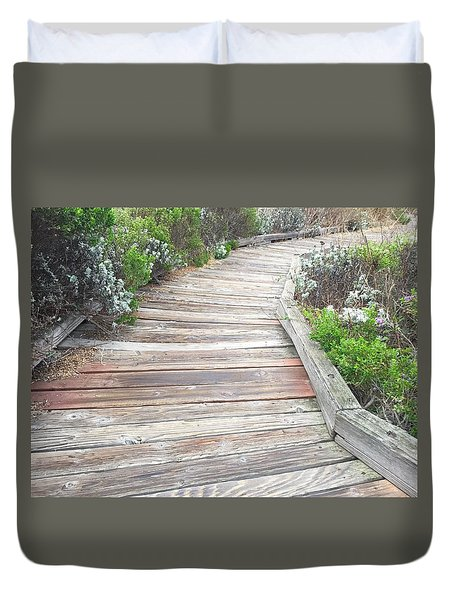 Weathered Path Duvet Cover by Russell Keating