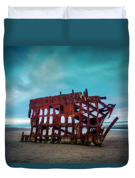 Weathered Rusting Shipwreck Duvet Cover