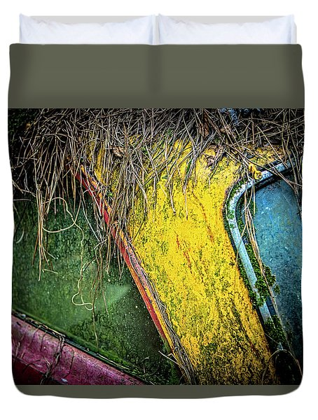 Weathered Vehicle Duvet Cover