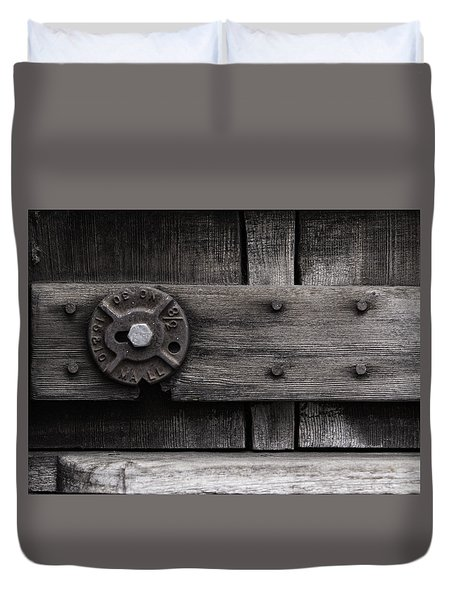 Weathered Wood And Metal Four Duvet Cover by Kandy Hurley