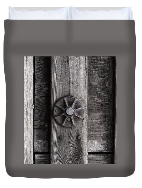 Weathered Wood And Metal Three Duvet Cover by Kandy Hurley