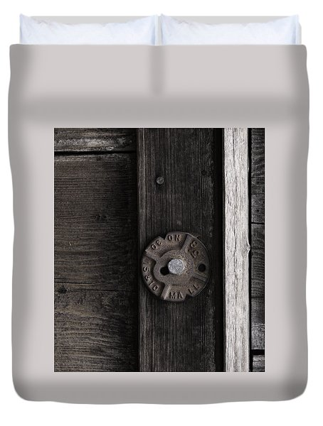 Weathered Wood And Metal Two Duvet Cover by Kandy Hurley