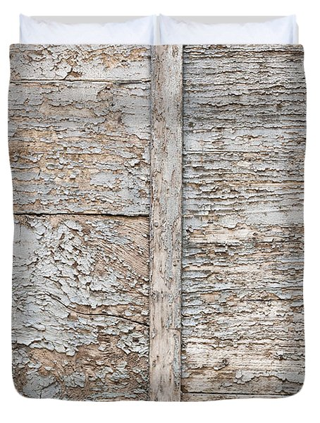 Weathered Wood Background Duvet Cover