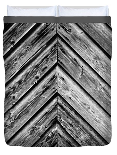 Weathered Wood Duvet Cover by Larry Carr
