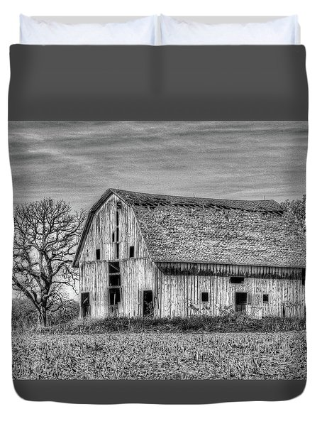 Weathered Wood Of Iowa Duvet Cover