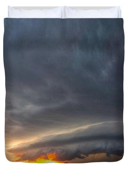 Weatherford Oklahoma Sunset Supercell Duvet Cover