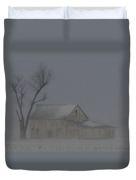 Weathering The Blizzard Duvet Cover