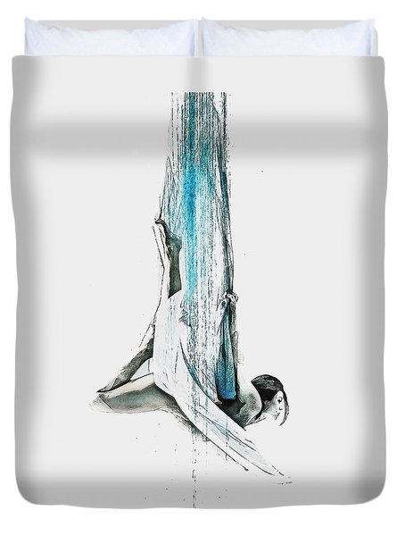 Web - Aerial Dancer Duvet Cover