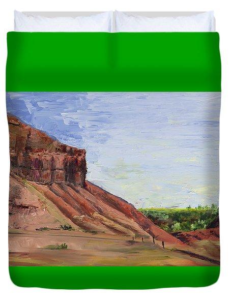 Weber Sandstone Duvet Cover by Jane Autry