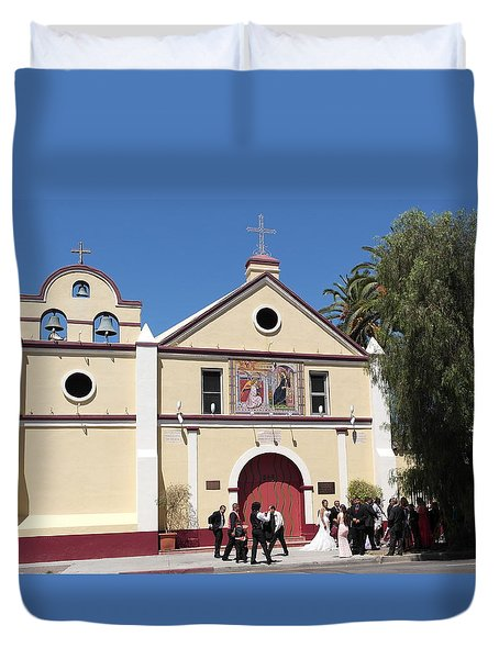 Wedding At La Placita - Los Angeles Duvet Cover by Michele Myers