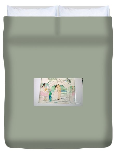 Wedding At Naples, Florida Duvet Cover