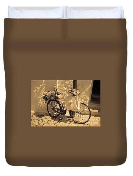 Wedding Bike Duvet Cover