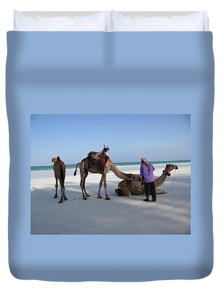 Wedding Camels In The Waiting ... Duvet Cover