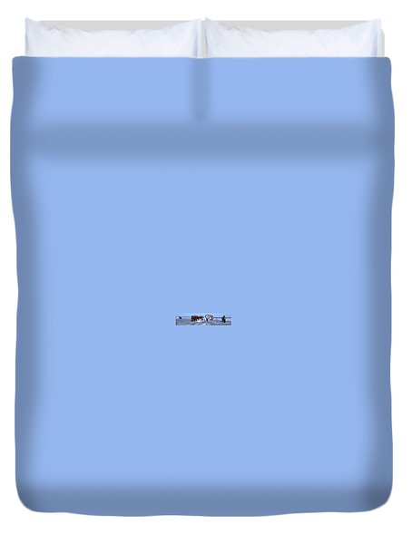 Wedding Complete Panoramic Kenya Beach Duvet Cover