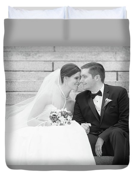 Wedding Connection Duvet Cover by Coby Cooper