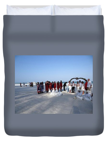 Wedding In The Afternoon Shadow Duvet Cover