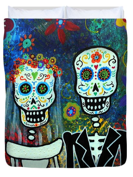 Wedding Muertos Duvet Cover