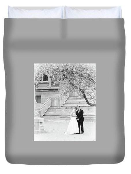 Wedding Steps Duvet Cover by Coby Cooper