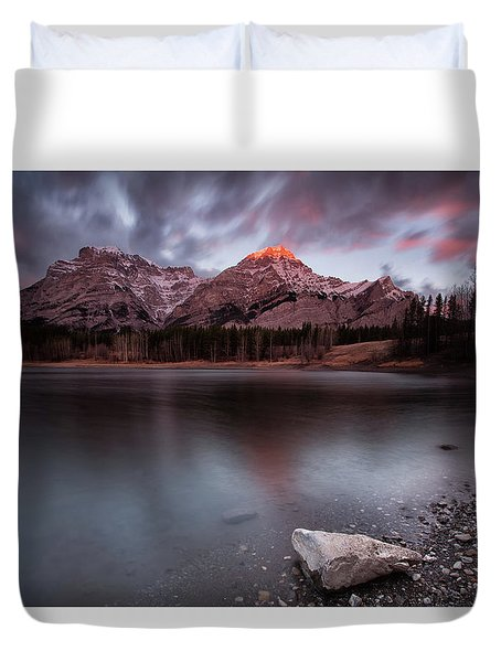 Wedge Pond Dawn Duvet Cover